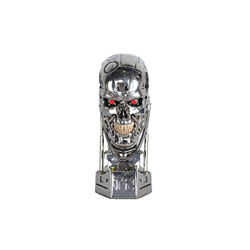 OGRM Resin Crafts Terminator T800 1:1 Scale Replica Skull Endoskeleton Lift-Size Bust Figure LED EYE T-800 T2