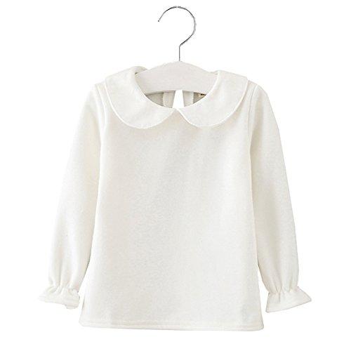 XUNYU 1-4T Infant Baby Girls Doll Collars Cotton Long Sleeve Blouse Tops T Shirt