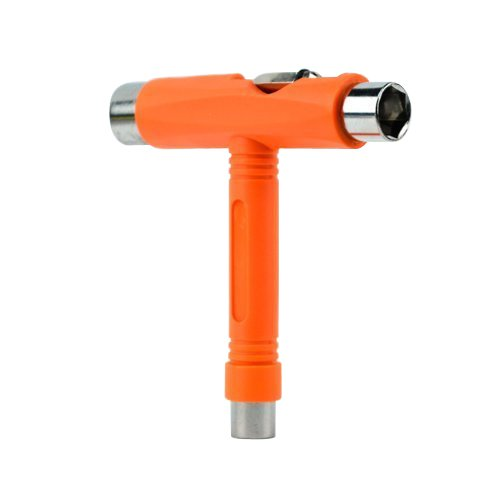 Samuauto Skateboard T-tool All in One Screwdriver Socket Multi Function Skate Tool (Orange) (Tool Skateboard)