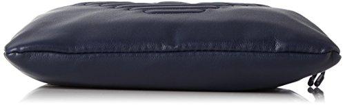Armani Jeans Herren Piattina Grande Schultertasche, Blau (Blu), 23x2x21 cm