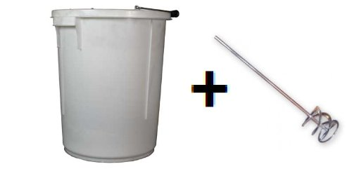 25 Litre Plasterers Bucket WITH WHISK (RRP £15.99)/Storage Bucket.(Made In The U.K) Keto Plastics