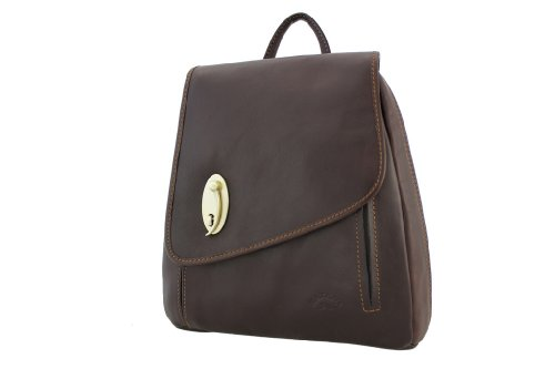 Katana - Bolso mochila  de Piel para mujer Marrón - chocolate