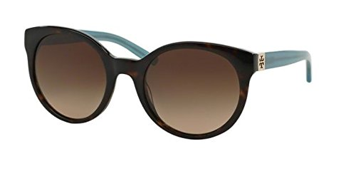 Tory Burch Womens Sunglasses (TY7079) Blue/Brown Acetate - Non-Polarized - - Tory Sunglass Burch Hut