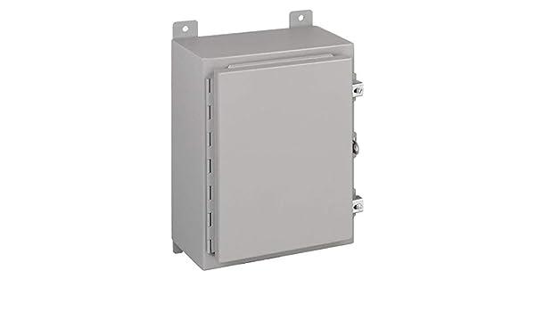 Steel 24 x 20 x 10 Wiegmann N12242010 N12-Series NEMA 12 Wallmount One Door Enclosure
