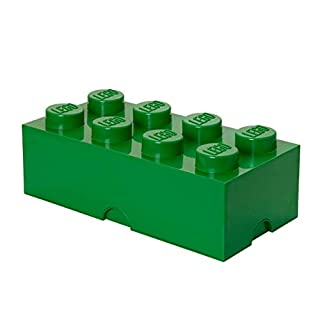 Room Copenhagen 8 Lego Brick Box, Dark Green