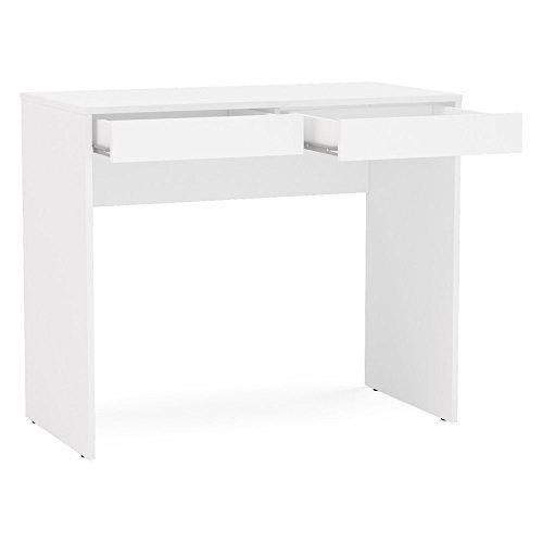 Polifurniture 401604470007 Tijuca Two Drawer Compact Student Desk, White by Polifurniture