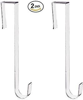 Hangorize Premium Clear Over The Door Wreath Hanger 12 Inches   2 Per Pack  (Clear