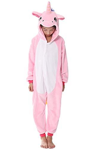 Women's Sleepwear Halloween Cosplay Costume Unicorn Onesie Pajamas Animal Onepiece Christmas (Size120 for 43-47