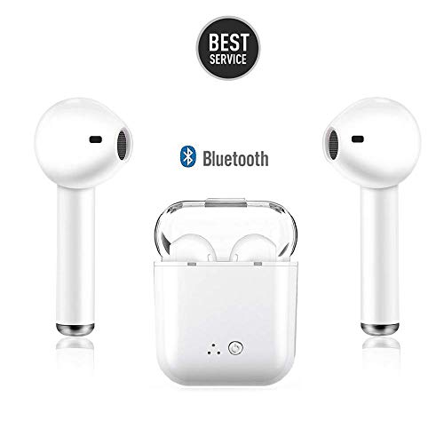 Wireless Bluetooth Headset, i7s Wireless Headset Stereo Bluetooth Headset in-Ear Built-in Handsfree Microphone for Apple Airpods - Headset Stereo Free Hands Bluetooth