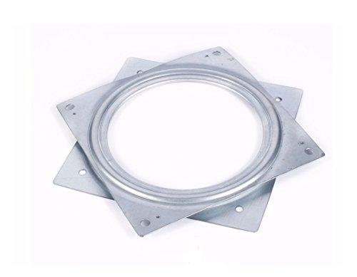 YXQ 6''(155mm) Square Swivel Ball Bearing Swivel Plate Rotating Table 2Pcs