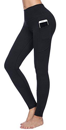 - 317V7E kgRL - High Waist Yoga Pants for Women Side & Inner Pockets with Tummy Control Sports Leggings