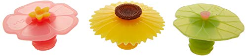 - Charles Viancin Wine Bottle Stopper - Lily Pad, Sunflower & Hibiscus
