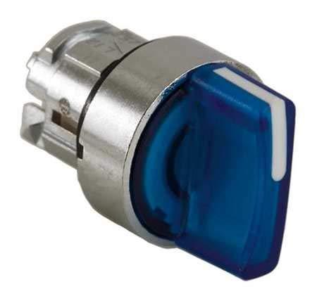Illum Selector Switch, 3 Pos, 22mm, Blue