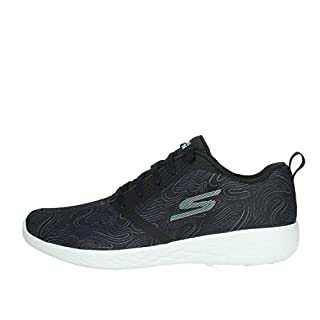 Skechers Womens Go Run 600 Liberate Running Shoes (7 M US, Black/Aqua)