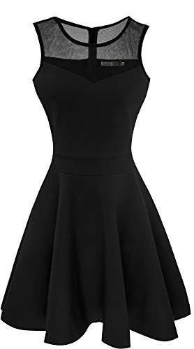 Heloise-Womens-A-Line-Sleeveless-Pleated-Little-Cocktail-Party-Dress
