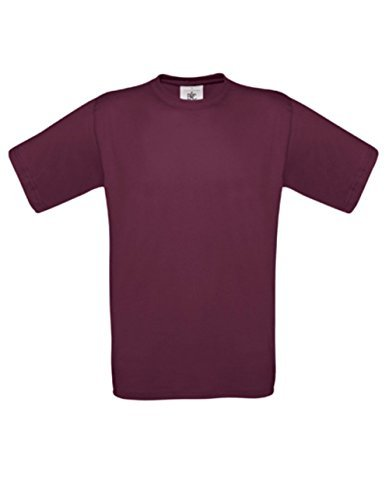T-Shirt Exact 190 Basics Rundhals Shirt viele Farben B&C S-XXL M,Burgundy