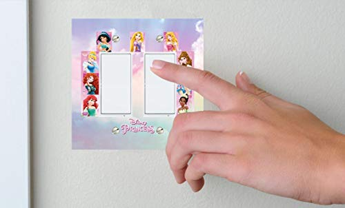 (Disney Princess Double Rocker Double Toggle lightswitch cover - Disney Princess)