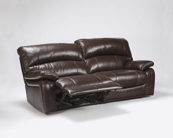 Signature Design by Ashley U9820047 Damacio Collection Power Reclining Sofa, Dark Brown