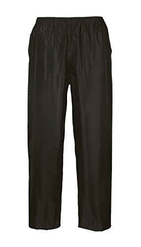 Portwest S441 Rainwear Men's  Waterproof Rain Pants, Medium, Black from Portwest