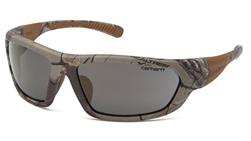 Carhartt CHRT220D Carbondale SAFETY Glasses, Realtree Xtra Frame, Gray - Sunglasses Carhartt