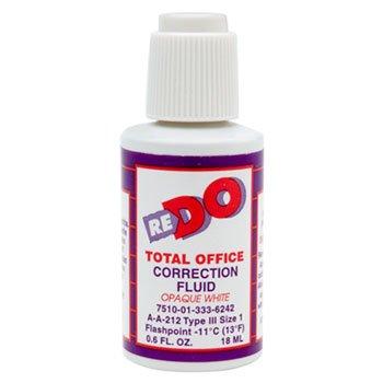 AbilityOne - Correction Fluid - Solvent-Based, Type III, 0.6 oz Bottle, White 7510-01-333-6242