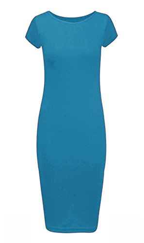 21fashion Vert Sans Bleu Sarcelle Femme Manche Pull Manches Courtes Uni qgZWUq7Rw4