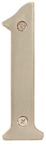 Emtek 2821 6 Inch Height Solid Brass Address Number One, Oil Rubbed Bronze
