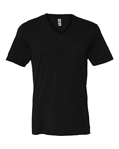Alternative AA1032 Mens Basic V-Neck - Black - L