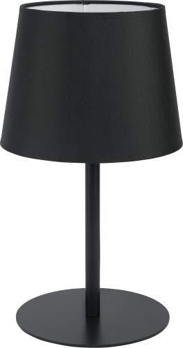 Maja - Lámpara de mesa (1 bombilla, E27, 60 W), color negro ...