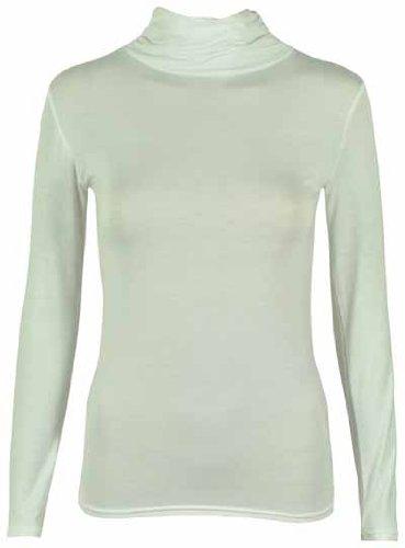 Femmes pour manches uni longues Purple polo Sweat Hanger Blanc stretch qwvtxa1
