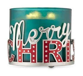 (Bath and Body Works Merry Christmas 3 Wick Candle Holder.)
