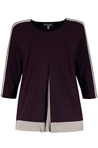 Ulla Popken Women's Plus Size Colorblock Layer Knit Top BlackBerry 20/22 714569 80 ()
