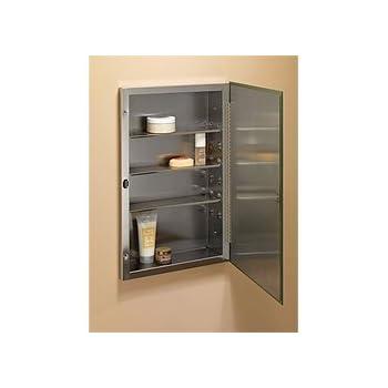 Jensen 868P24SS S Cube Single Door Recessed Mount Medicine Cabinet