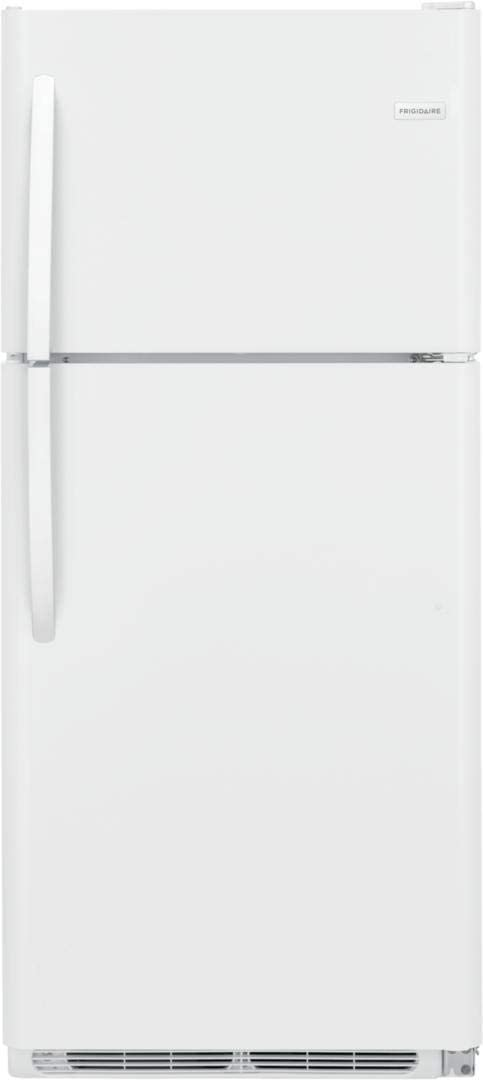 "Frigidaire FFHT2033VP 30"" Top Mount Refrigerator with 20.5 cu. ft. Total Capacity, LED Lighting, Store More Crisper Drawers, in Pearl White"