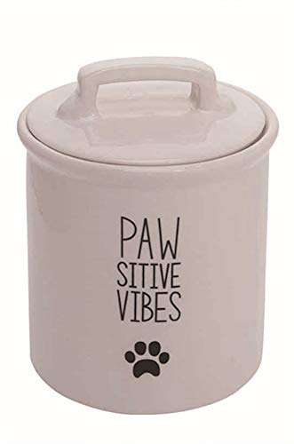- Pawsitive Vibes Ceramic Dog Treat Jar, 7