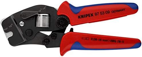 KNIPEX 97 53 09 Alicate autoajustable para entallar punteras de acceso frontal bruñido con fundas en dos componentes 190 mm: Amazon.es: Bricolaje y herramientas