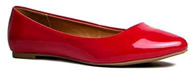 City Classified SADLER Pointed Toe Slip On Flat Work Formal Party Pump Ballet Flat