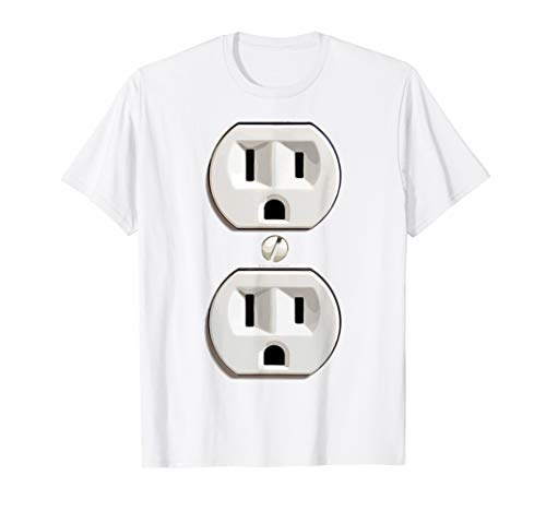 Electrical Outlet Funny Instant Halloween Costume T-Shirt]()