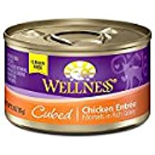 Wellness Pet Products Cat Food; Cubed Chicken - (Case of 24 - 3 oz)