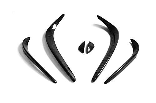Carbon Fiber Front Bumper Canard Lip Splitter Fin Valance Chin Exterior Kit For Mercedes Benz W205 C Class