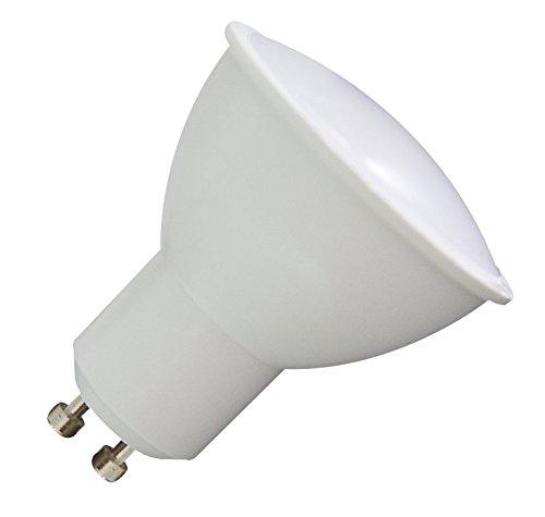 Bombilla LED FOCO GU10 5 W blanco luz del día 6000 K - luz como 50 W halógena 120 °: Amazon.es: Iluminación