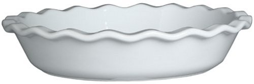 Emile Henry Couleurs Pie Dish – White