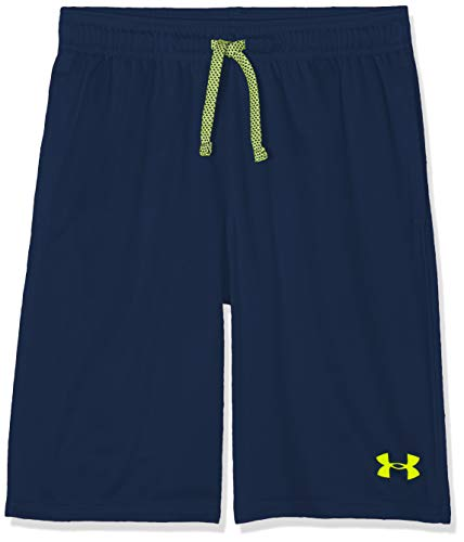 Under Armour Prototype Wordmark Short, Academy//High-Vis Yellow, Youth Large