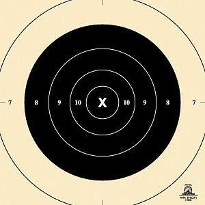 50 Yard Slow Fire Precision Pistol Target, Official NRA B-6C, Repair Center, 10.5