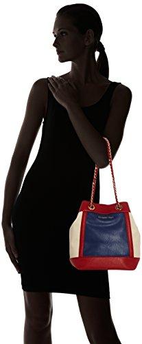 Trussardi 75bl6453, Borsa a secchiello Donna 28x27x18 cm (W x H x L) Multicolore (Blue/Red/Nud)