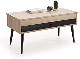 HOGAR24 ES Mesa de Centro Elevable con cajón Deslizante diseño ...