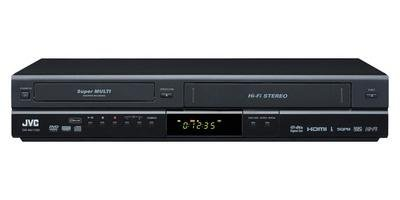 JVC DRMV100B 1080p Upconverting DVD Recorder VCR Combo with Built-in Tuner