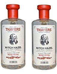 THAYERS Alcohol-Free Rose Petal Witch Hazel with Aloe Vera, 12 oz (Pack of 2)