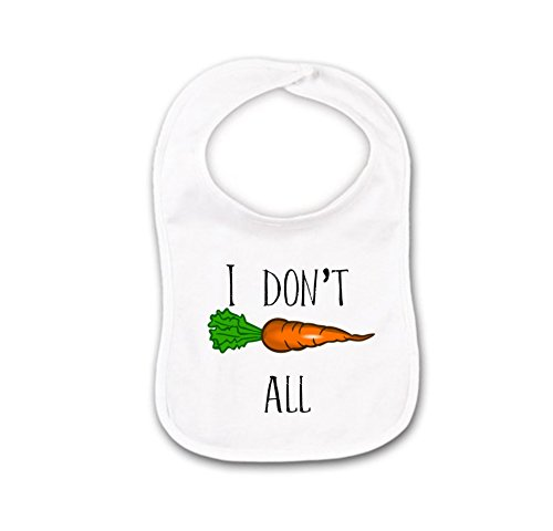 Carrot Vegetable Garden Baby Bib or Burp Cloth With Sayings, I Don't Care At All, Southern Sass Charm