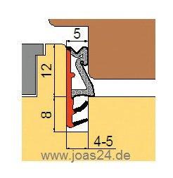 1,99 /€//lfm Fensterdichtung /Überschlagdichtung Fl/ügelfalzdichtung SCHWARZ 12mm-Falz 5mm-Nut 5mm-Anschlagluft 5lfm
